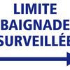 PANNEAU LIMITE BAIGNADE SURVEILLEE