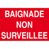 PANNEAU BAIGNADE NON SURVEILLEE