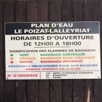 PANNEAU D'INFORMATIONS PLAGE