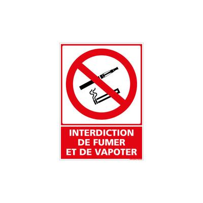 PANNEAU INTERDICTION RECTANGULAIRE SYMBOLE + TEXTE